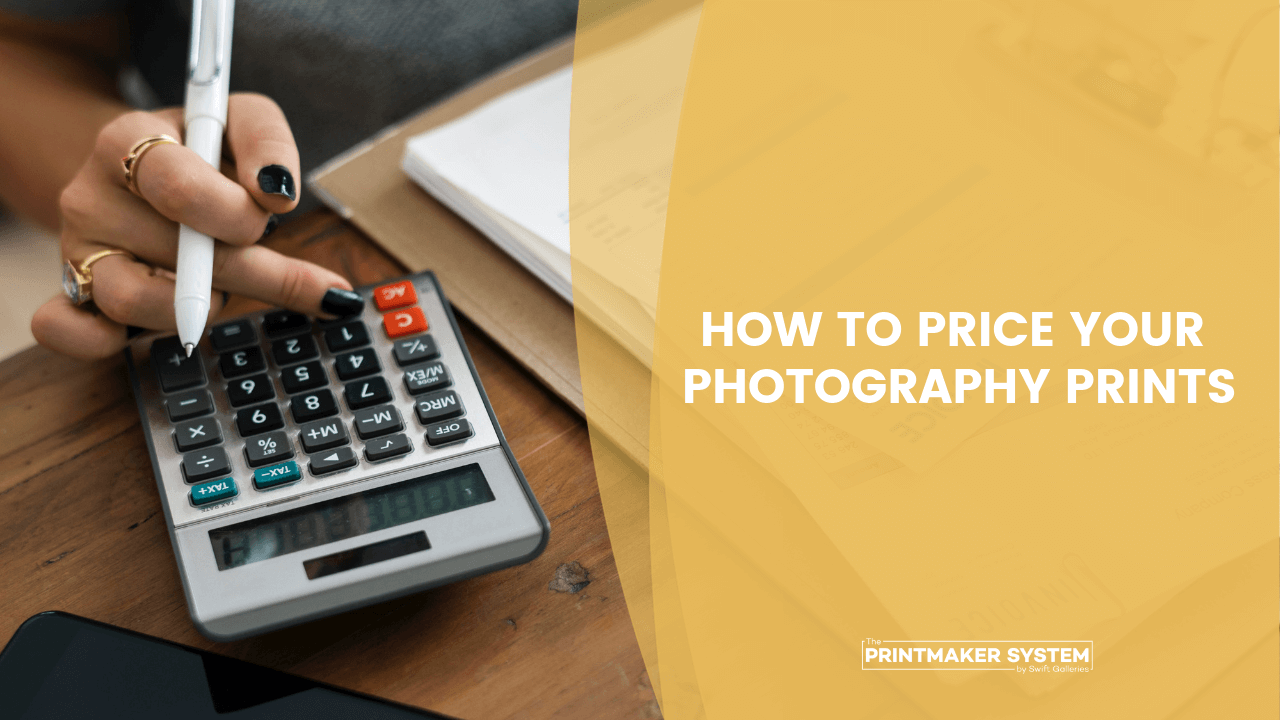 How to price your photography prints with woman on calculator