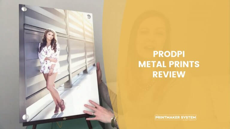 proDPI metal print review by Erin Smagala with a high school senior metal print