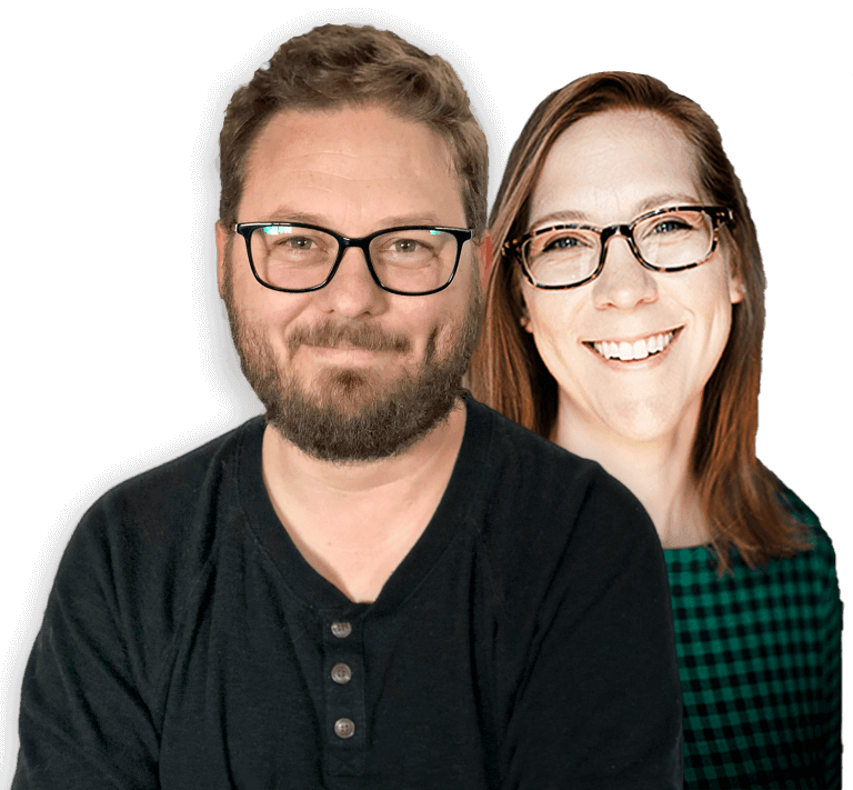 Swift Galleries and Preveal co-founders Chris and Adrienne Scott headshots