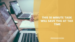 this 10 minute task will save you at tax time with men on computers