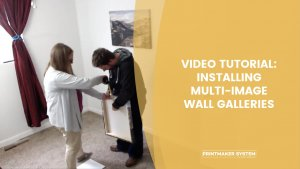 How to install multi-image wall galleries with people hanging canvases