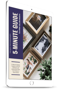 ipad showing the photography guide to introducing clients to wall art
