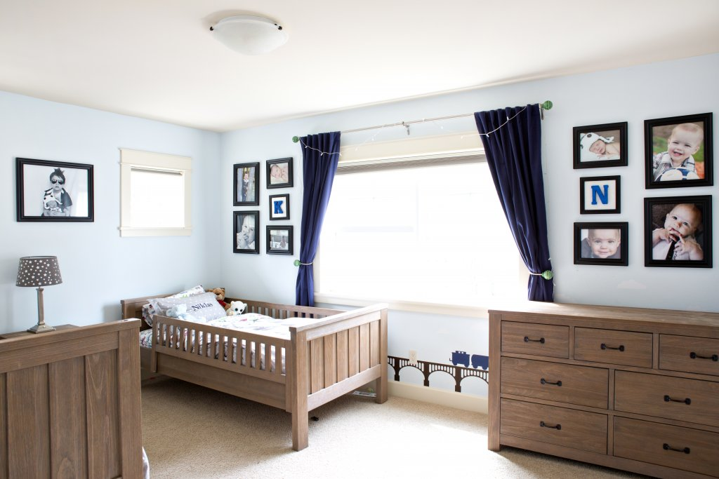 Framed Gallery Wall Design in Nursery